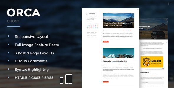 Orca - Responsive Ghost Theme - Ghost Themes Blogging