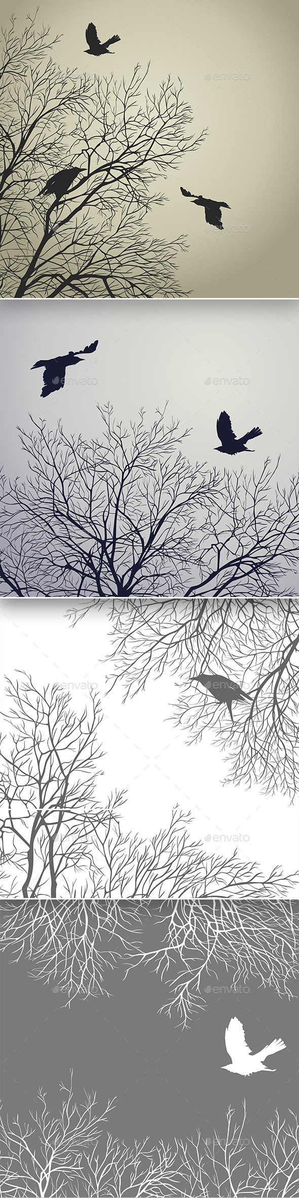 GraphicRiver Winter Birds 9375111