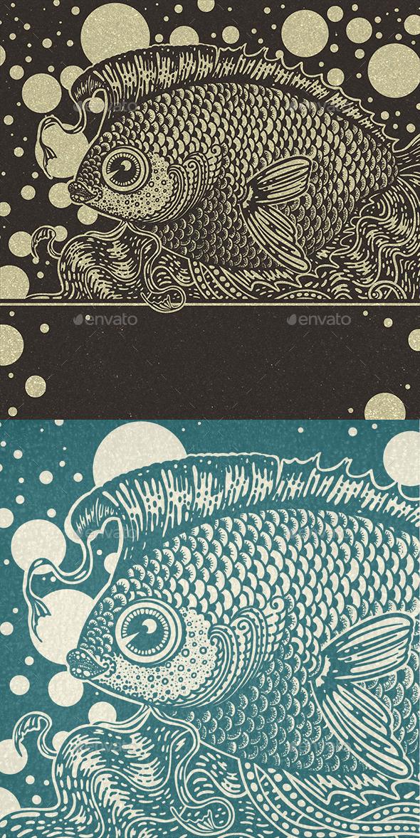 GraphicRiver Vintage Fish 9375361