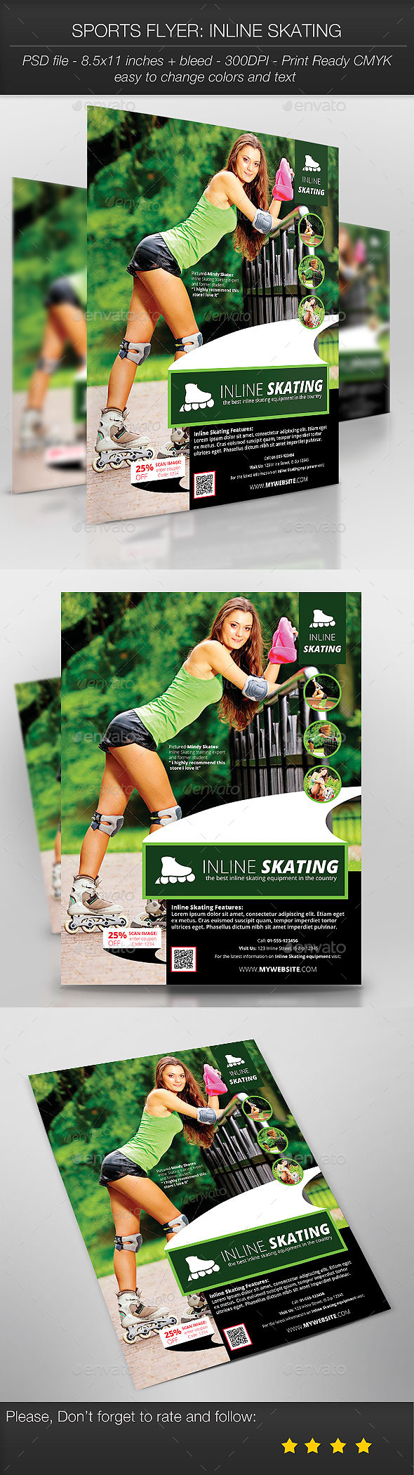 GraphicRiver Sports Flyer Inline Skating 9375426