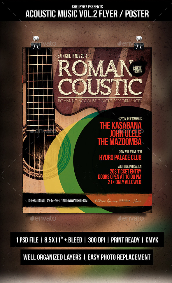 GraphicRiver Acoustic Music Flyer Poster Vol.2 9375452
