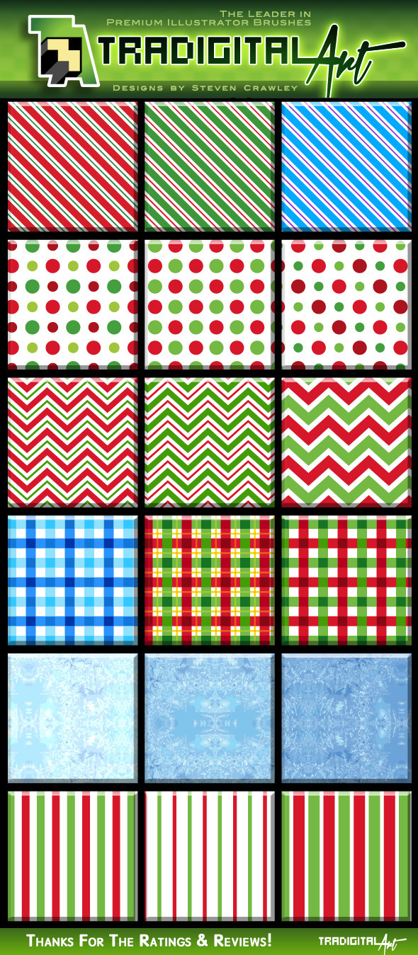 GraphicRiver Christmas Pattern Swatches 9375468