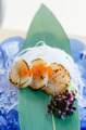 Fresh sea scallops sashimi with fish roe - PhotoDune Item for Sale