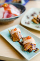 Grilled foie gras and salmon sushi - PhotoDune Item for Sale