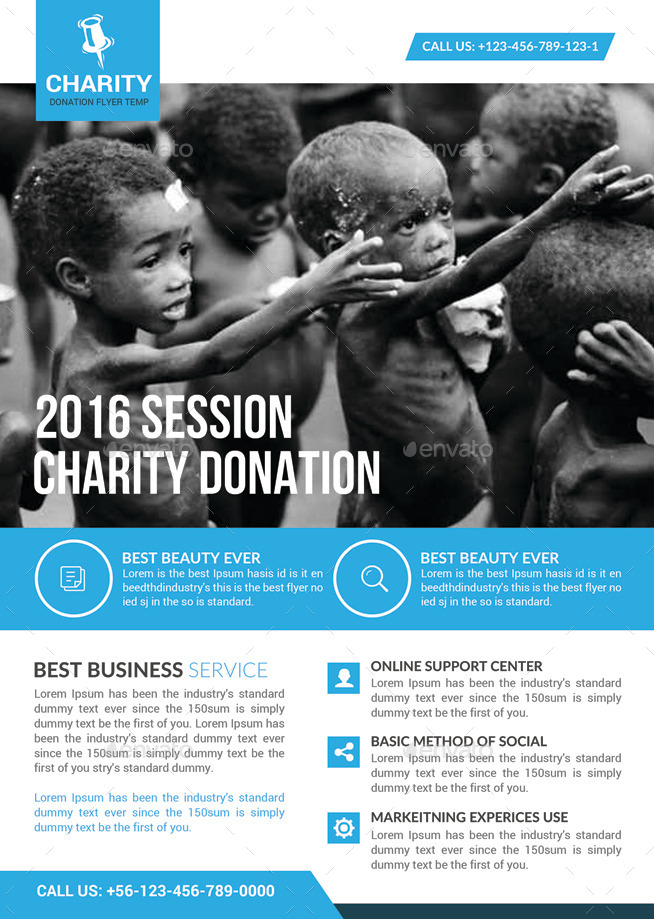 Charity Donation Flyer Template by GraphicForestNet – Donation Flyer Template
