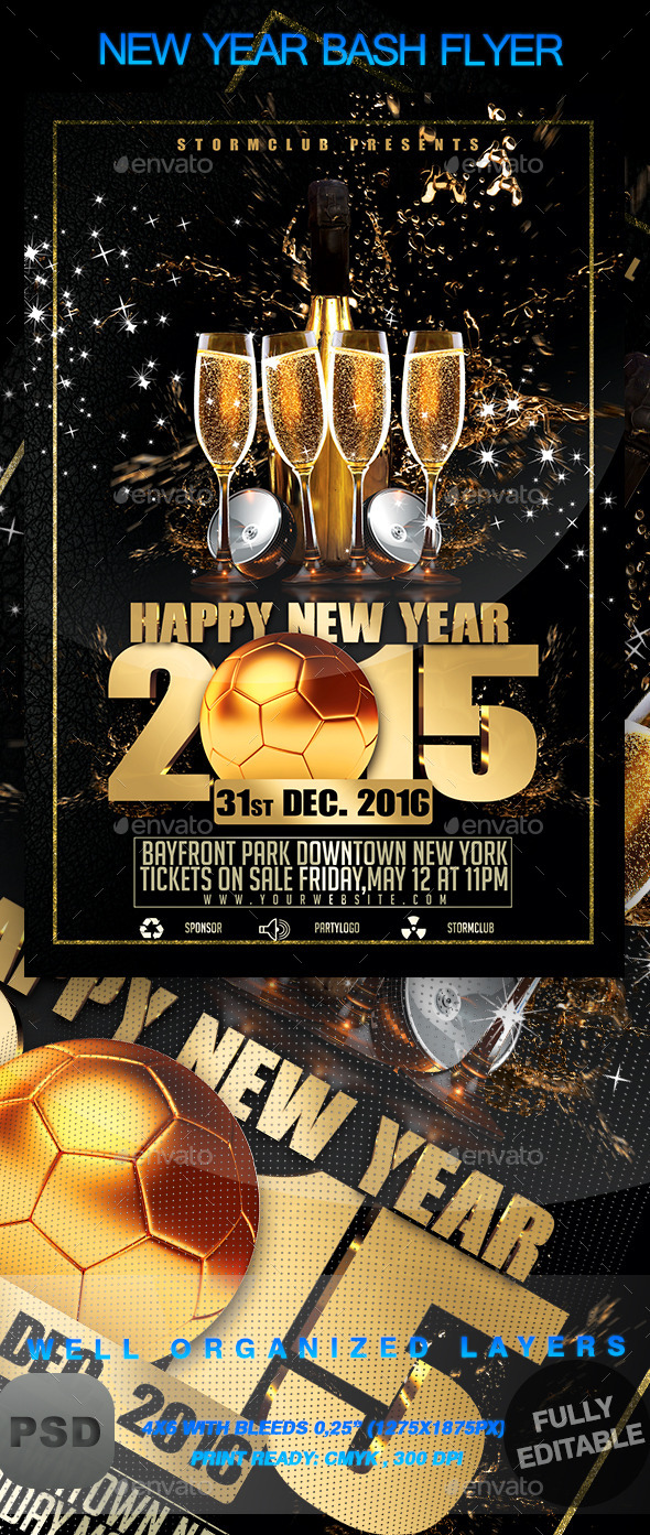 GraphicRiver New Year Bash Flyer 9376101