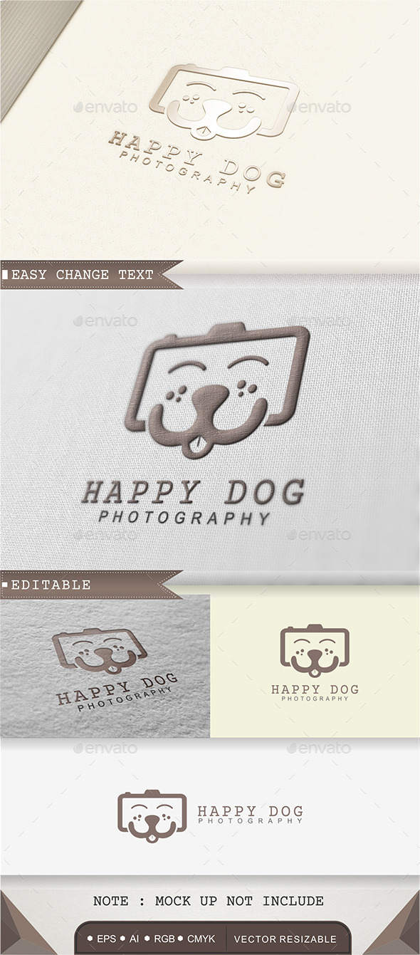 GraphicRiver Happy Dog Photography Logo 9376139
