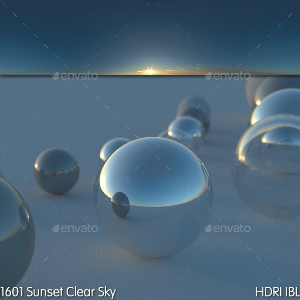HDRI IBL 1601 Sunset Clear Sky - 3DOcean Item for Sale