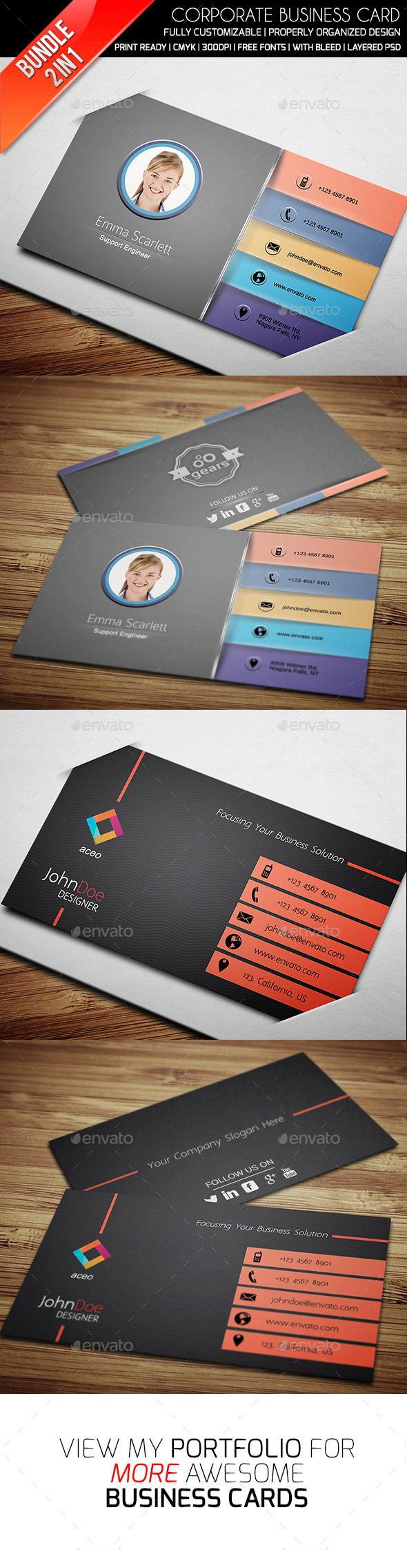 GraphicRiver Business Card Bundle Vol 6 9376389