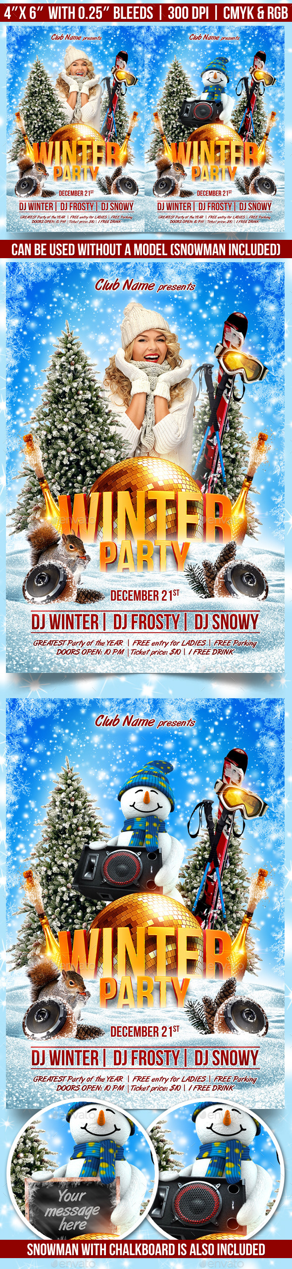 GraphicRiver Winter Party Flyer Template 9332189