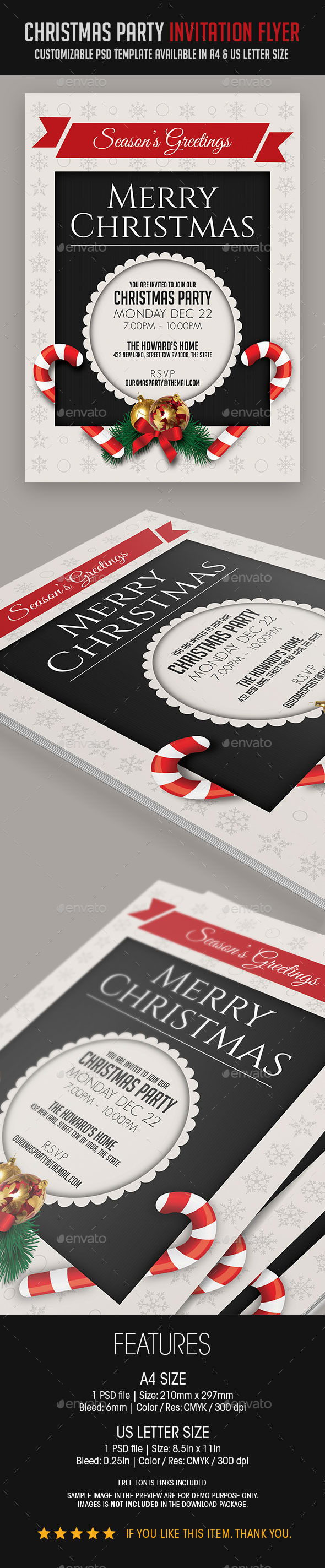 GraphicRiver Christmas Party Invitation Flyer 9376625
