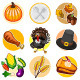 Happy Thanksgiving Sticker Icon Set - GraphicRiver Item for Sale