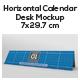 Horizontal Calendar Desk Mockup - GraphicRiver Item for Sale