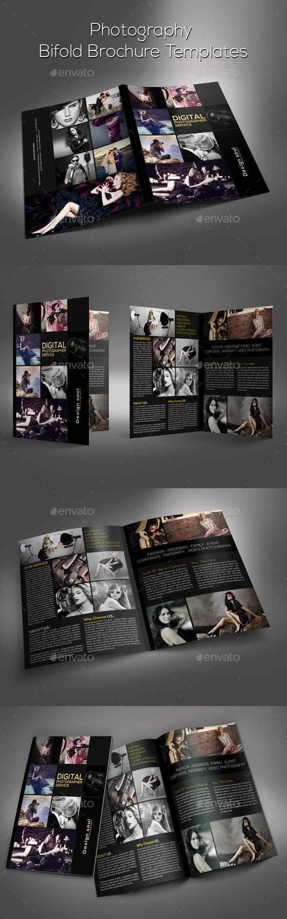 GraphicRiver Photography Bifold Brochure 9376672