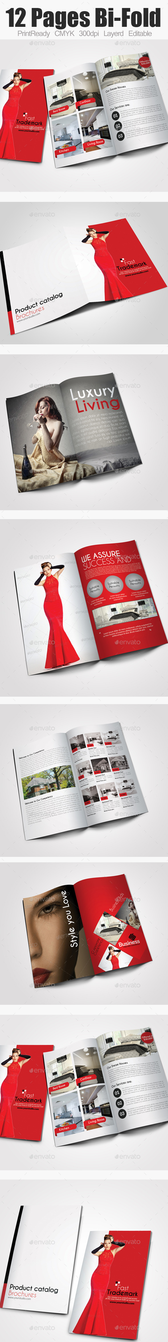 GraphicRiver Bi Fold Business Catalog 9376741