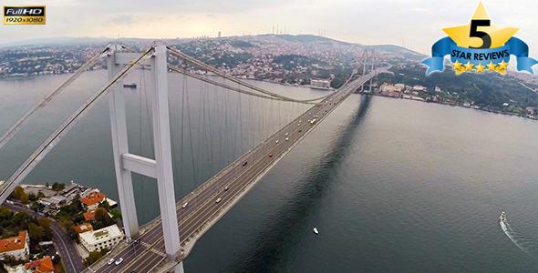 Aerial View of Bosphorus Istanbul 2