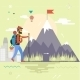 Backpack Hiking Mountain Climber Symbol  - GraphicRiver Item for Sale