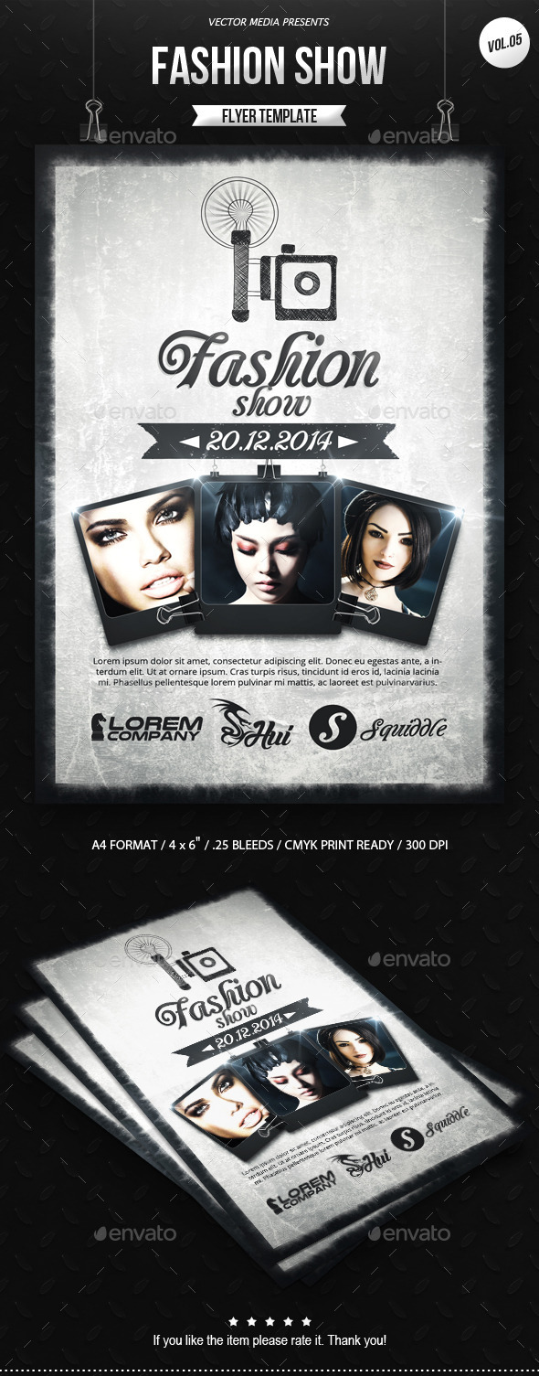 GraphicRiver Fashion Show Flyer [Vol.05] 9333192