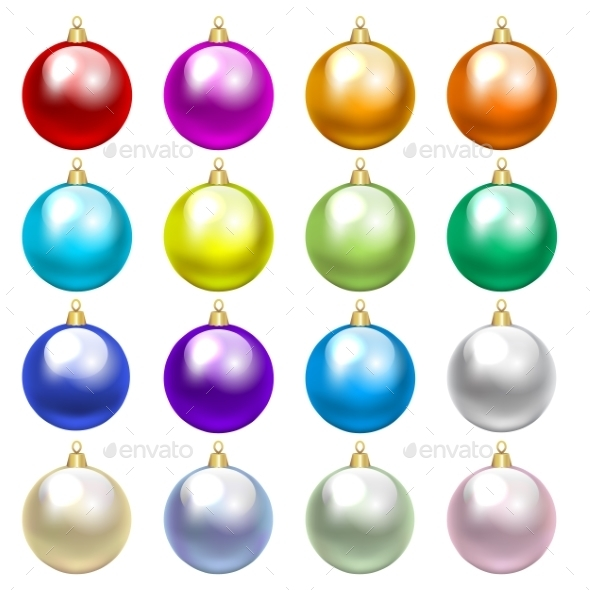 GraphicRiver Colorful Baubles 9376857