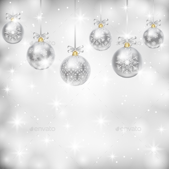 GraphicRiver Silver Baubles 9376876