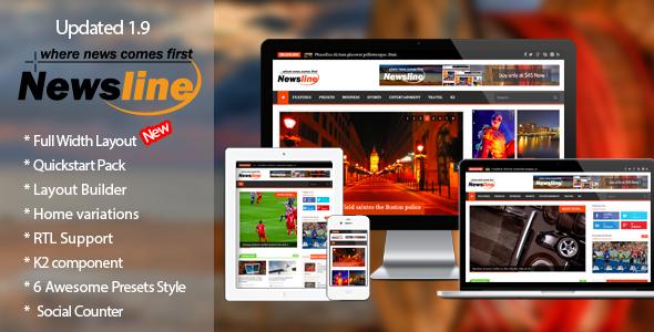 Newsline - Responsive Magazine Joomla Template