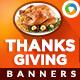 Thanksgiving Web Banner Set - GraphicRiver Item for Sale