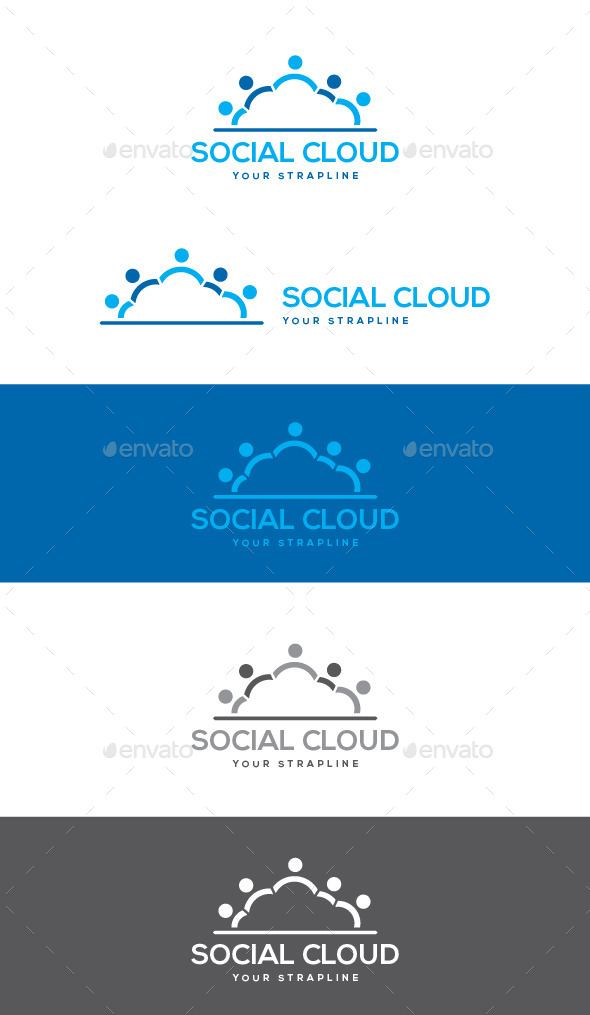 GraphicRiver Social Cloud Logo 9377108