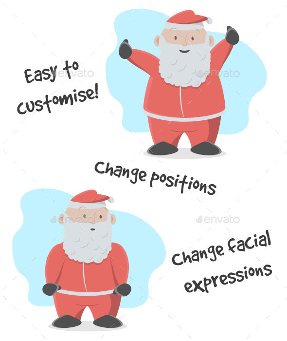 GraphicRiver Happy Santa at Christmas Time 9344371