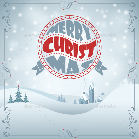 GraphicRiver Christmas Background 9377131