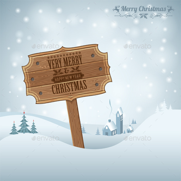 GraphicRiver Christmas Background 9377275
