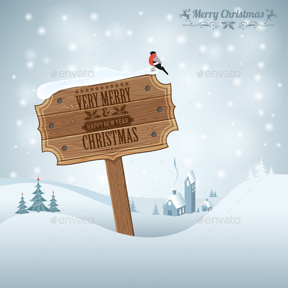 GraphicRiver Christmas Background 9377551