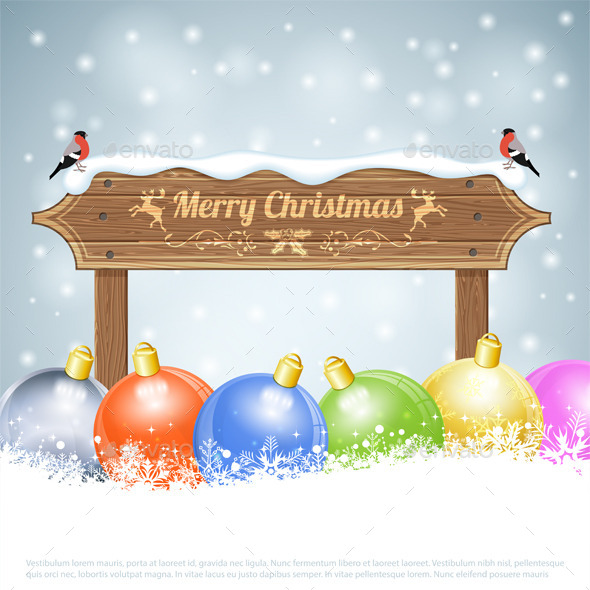GraphicRiver Christmas Background 9377554