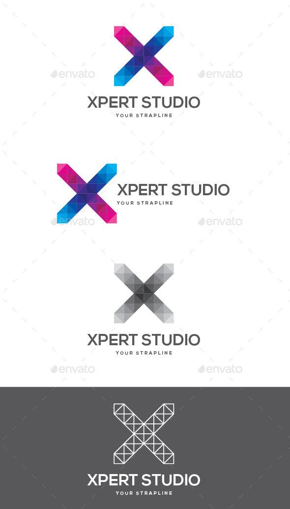 GraphicRiver Xpert Studio Letter X Logo 9378329