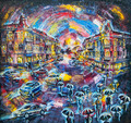 graphic picture of the oil city of night - PhotoDune Item for Sale