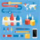 Flat Infographic Kit Elements - GraphicRiver Item for Sale
