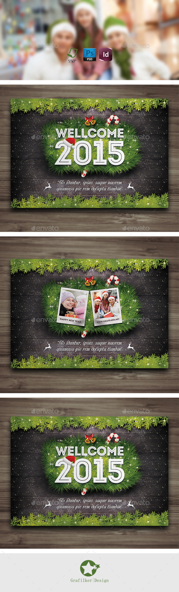 GraphicRiver Christmas Postcard Templates 9379029