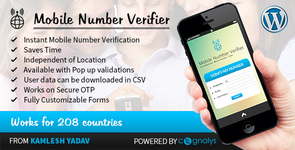 CodeCanyon Mobile Number Verifier WordPress Plugin 9290925