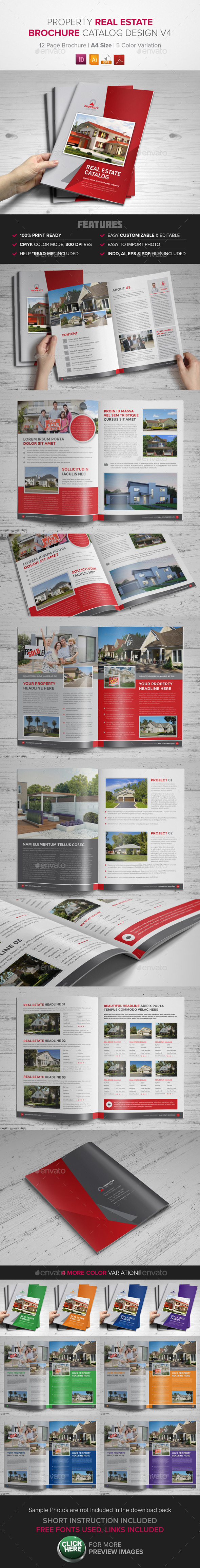 GraphicRiver Real Estate Property Brochure Catalog InDesign 9379608
