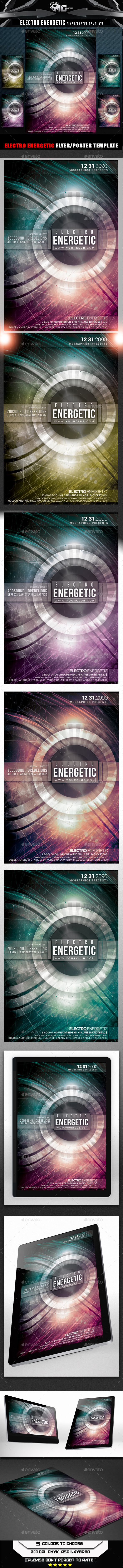 GraphicRiver Electro Energetic Flyer Template 9379831