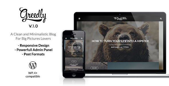 Greedly - Grid Based & Responsive WordPress Blog - Personal Blog / Magazine