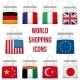 Set Shopping Bag with Flag of Different Country - GraphicRiver Item for Sale