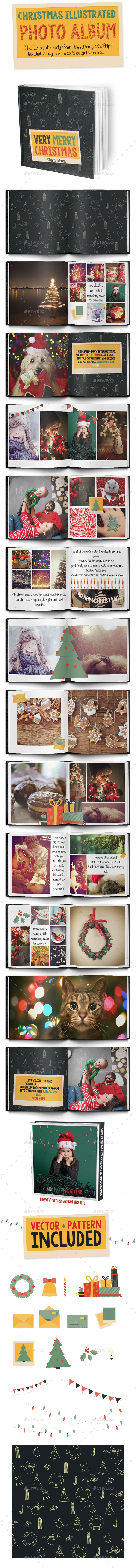 GraphicRiver Christmas Illustrated Photo Album 9379933