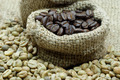 Roasted coffee beans And raw coffee beans - PhotoDune Item for Sale
