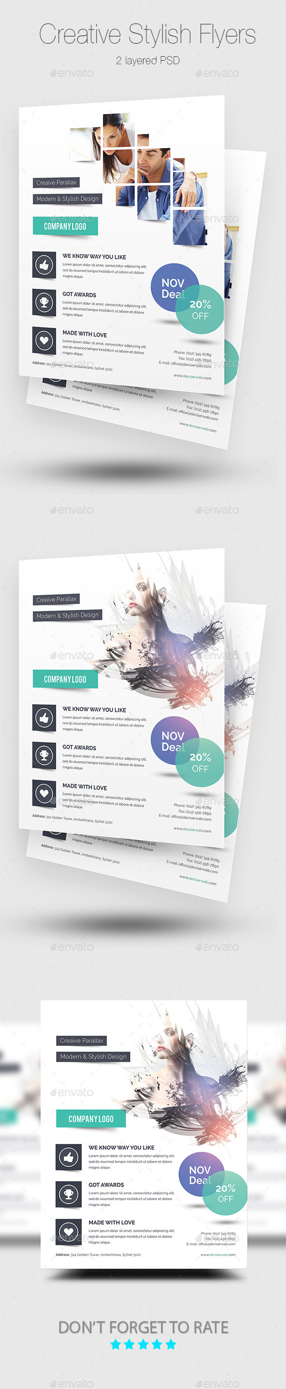 GraphicRiver Creative Stylish Flyer Templates 9380076