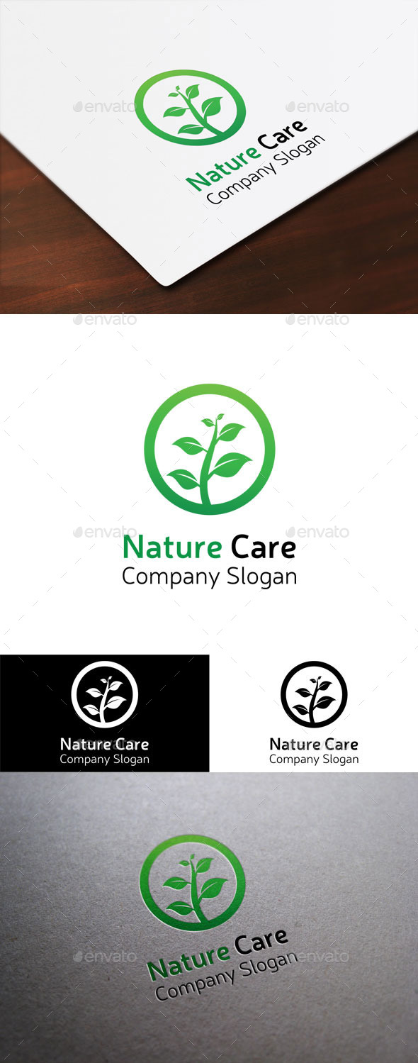 GraphicRiver Nature Care Logo 9380467