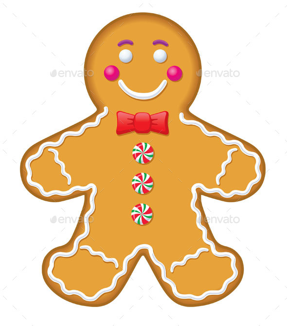 GraphicRiver Iced Gingerbread Man Cookie 9380524