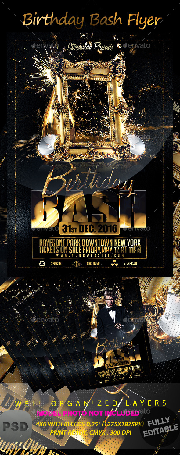 GraphicRiver Birthday Bash Flyer 9380562