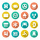 Set Flat Icons of Ventilation and Conditioning - GraphicRiver Item for Sale