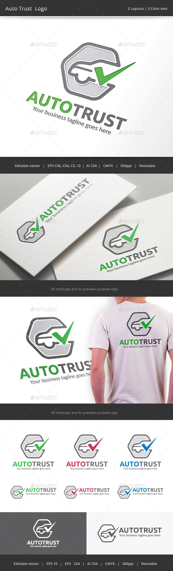 GraphicRiver Auto Trust Car Check Logo 9380808