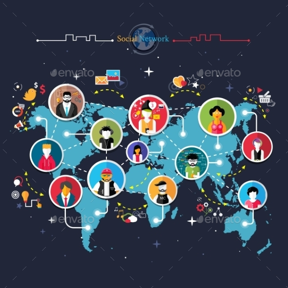 GraphicRiver Social Media Network 9380809